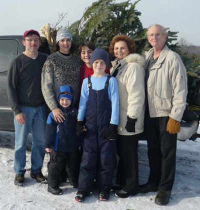 Family with Tree